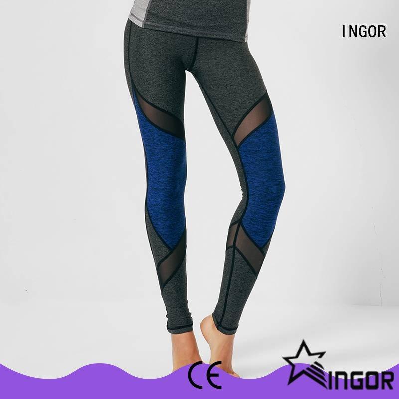 INGOR capri tie yoga leggings with four needles six threads at the gym
