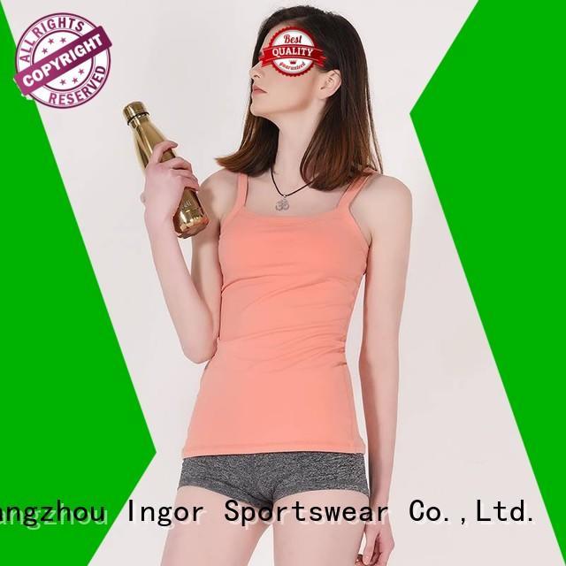 Wholesale plain women's workout tank tops blank INGOR Brand