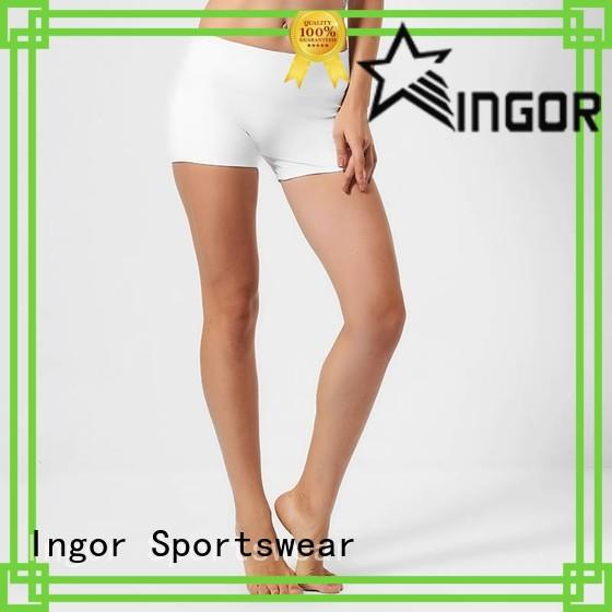 INGOR white running shorts with high quality for women