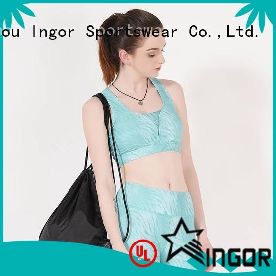 INGOR back best zip up sports bra with high quality for women