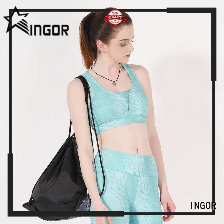 INGOR wireless strappy sports bra to enhance the capacity of sports for girls