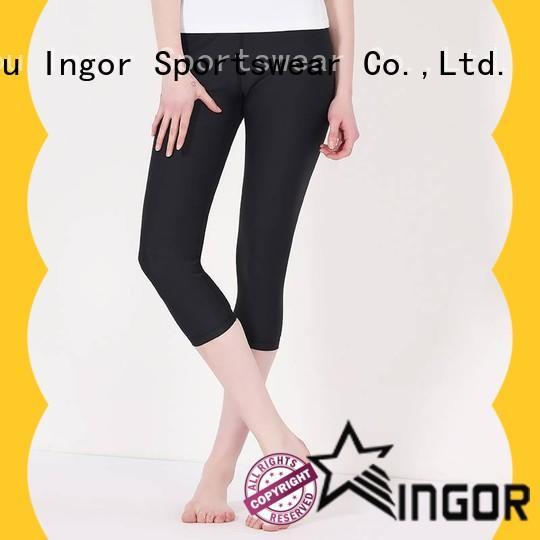 INGOR tight yoga pants with four needles six threads