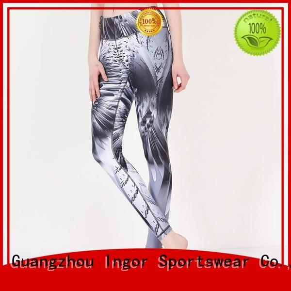 printed mesh womens yoga pants INGOR Brand company