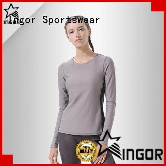 INGOR anti-Static black ladies sweatshirt shirts for women