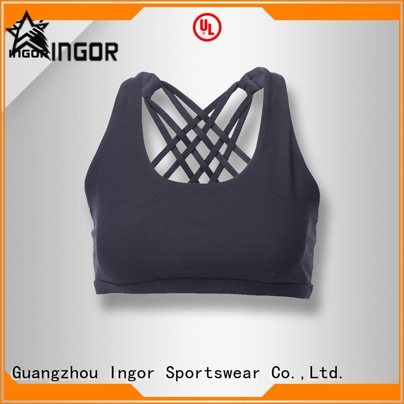 INGOR sexy navy blue sports bra with high quality for ladies