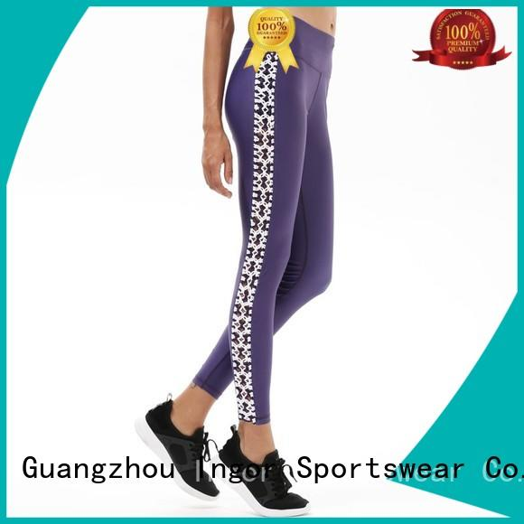 printed Custom spandex pants yoga pants INGOR waisted