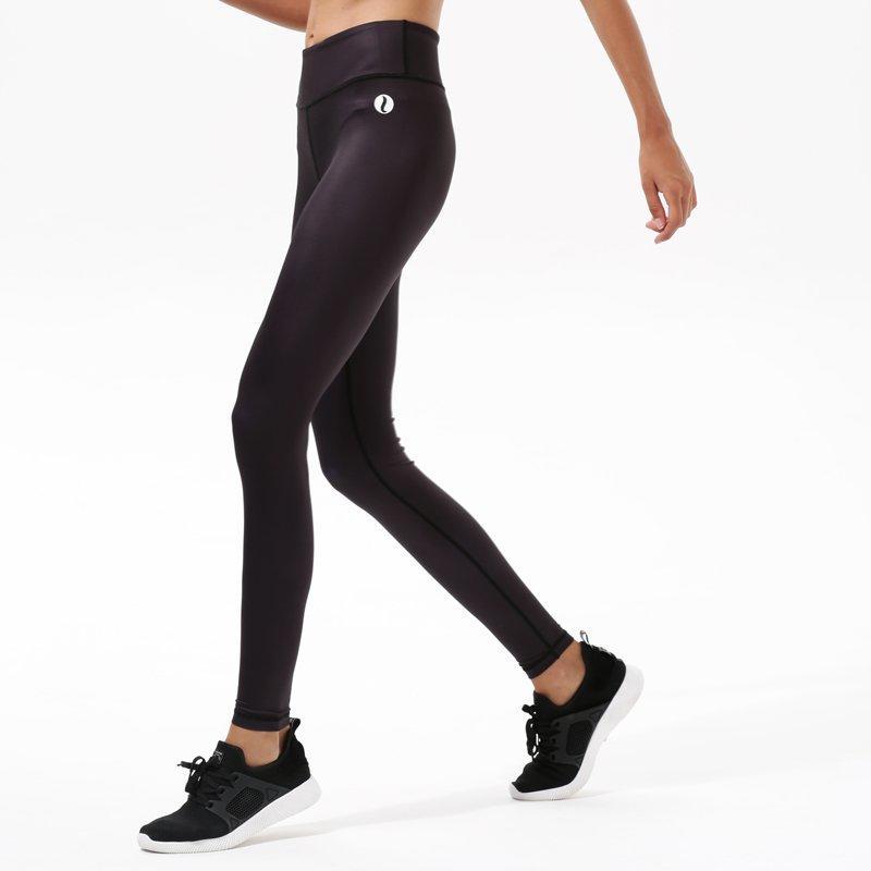Black Yoga Exercise High Waisted Leggings Y1921P14
