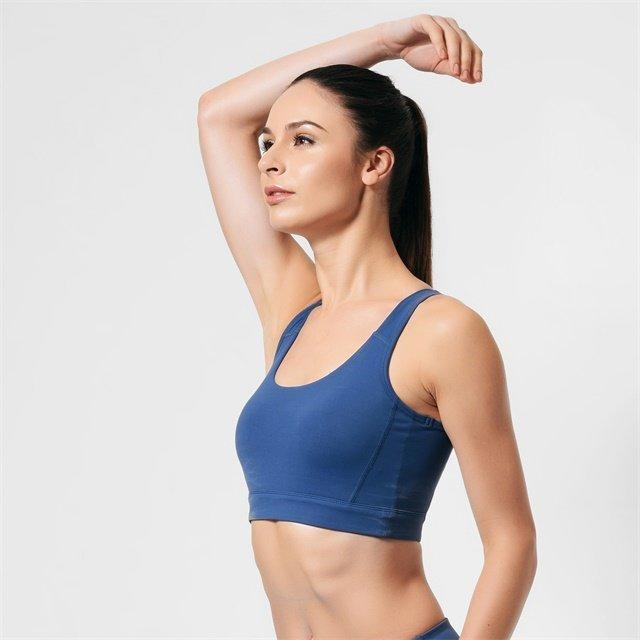 Wholesale Sportswear Gym Backless Sports Bra Custom Logo Fitness Yoga Wear Women