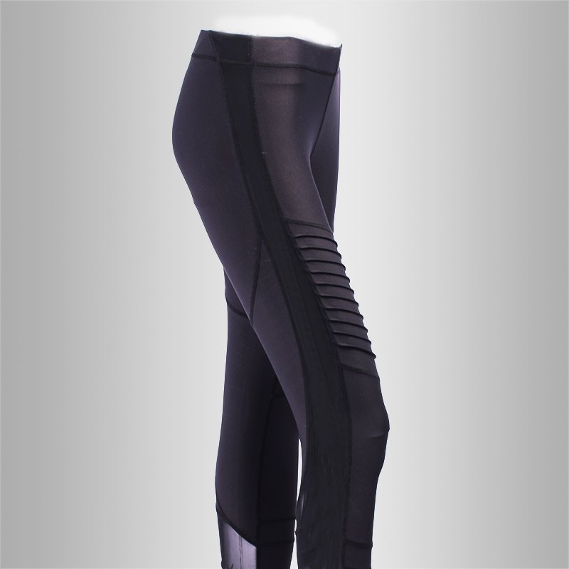 INGOR Women High Waisted Black Yoga Tights Leggings Pants JK11P021 Leggings image1