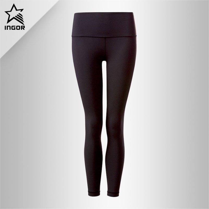 High Waist Womens Best Black Spandex Yoga Leggings Pants JK11P011