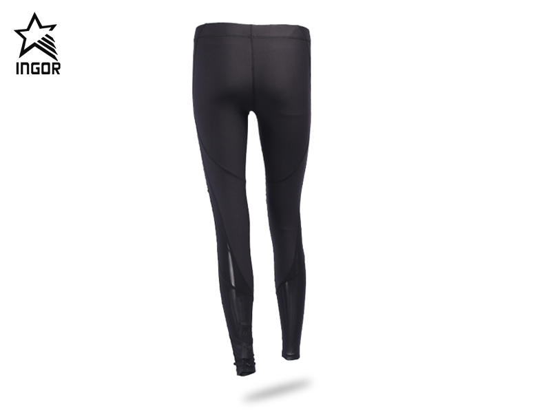 womens sport tights with mesh material JK11P021