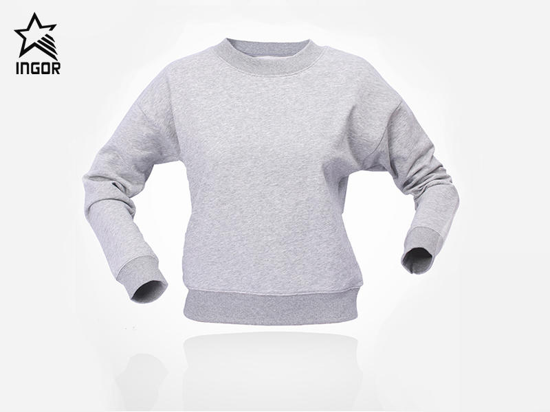 crew neck sweatshirt custom made of cotton fabric JK21H001