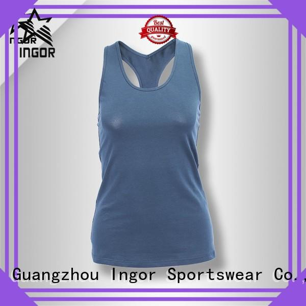 tight spandex womens lycra women's workout tank tops INGOR Brand