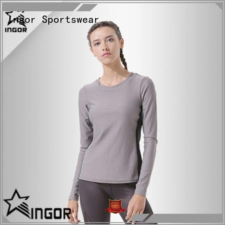 breathable Sports sweatshirts sleeve with drawstring design for women