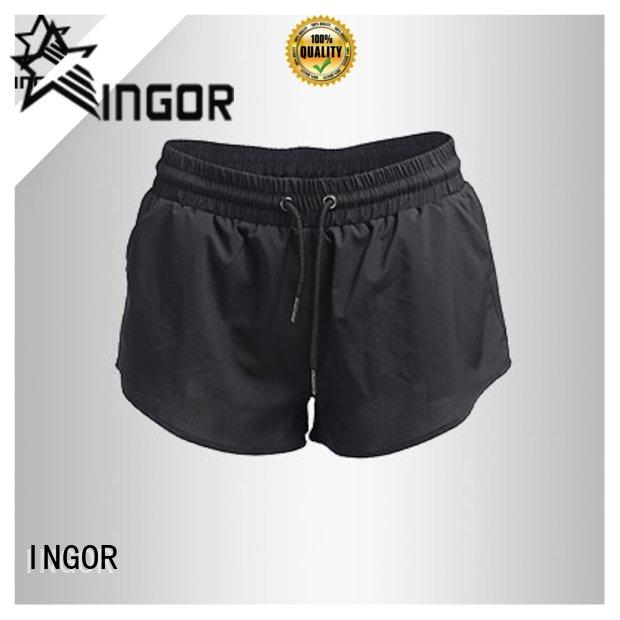INGOR waisted running shorts with high quality for women