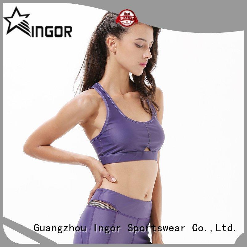 red running INGOR Brand sports bra