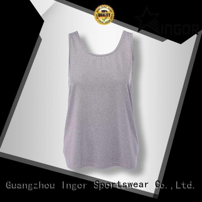 soft yoga tops mesh with racerback design for ladies