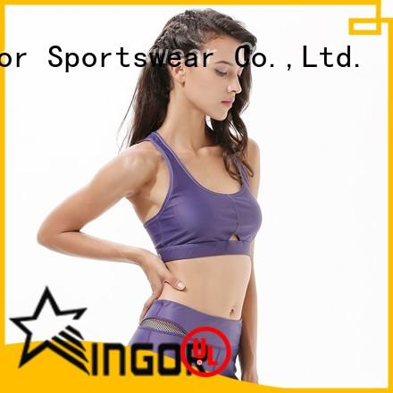 INGOR Brand strappy colorful sports bras companies supplier