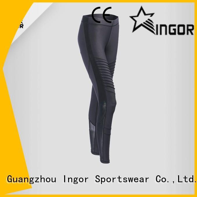 Custom blue yoga pants patterned INGOR
