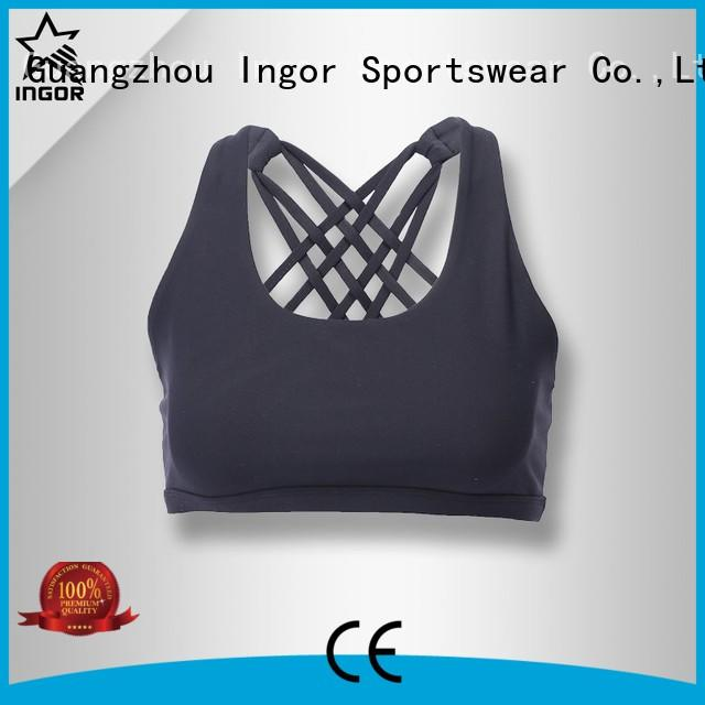 INGOR Brand bra neck gym custom colorful sports bras