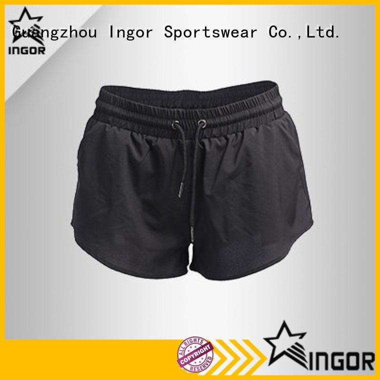 INGOR custom yoga shorts with high quality for ladies
