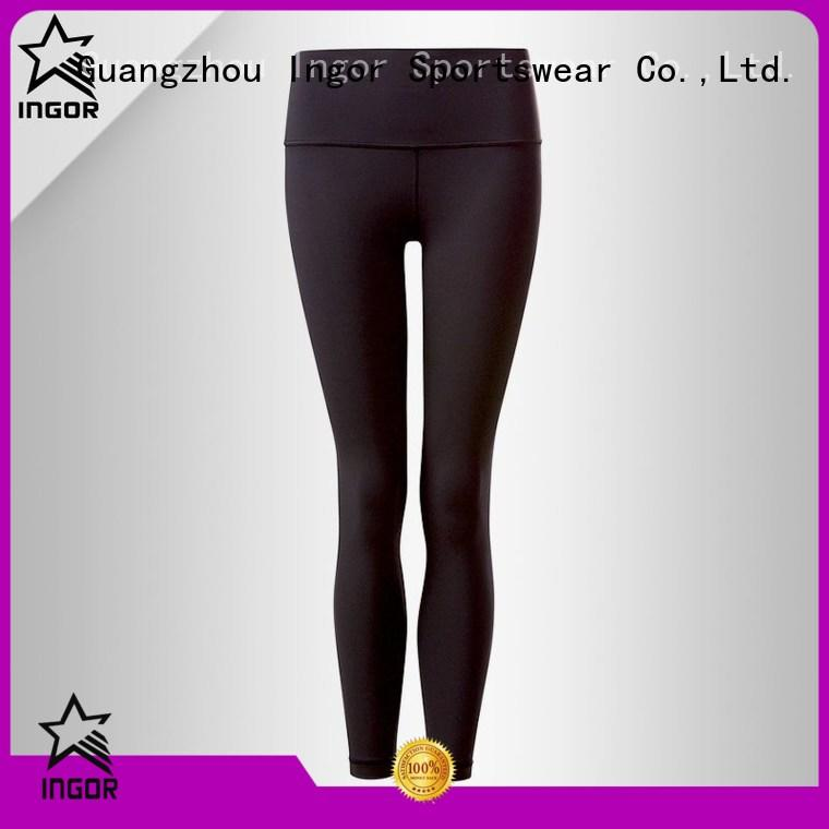 Wholesale exercise black yoga pants INGOR Brand