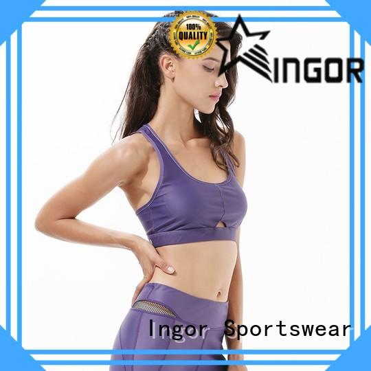 INGOR companies best zip up sports bra to enhance the capacity of sports for women