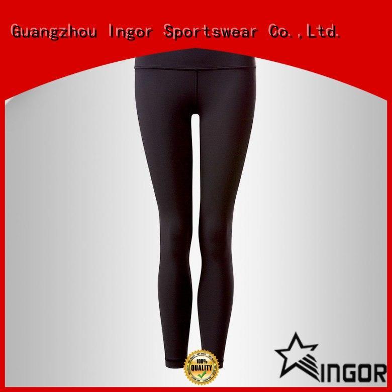 INGOR dress yoga capris with four needles six threads for women