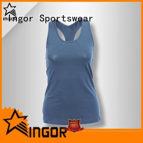 INGOR running crop tank with racerback design for yoga