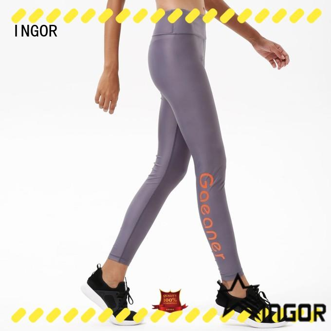 INGOR gym yoga leggings with four needles six threads at the gym