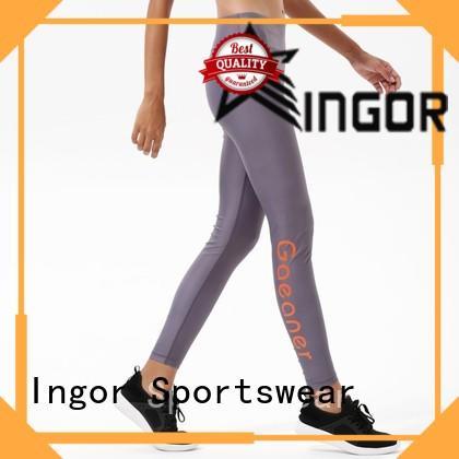 INGOR grey yoga leggings with high quality at the gym