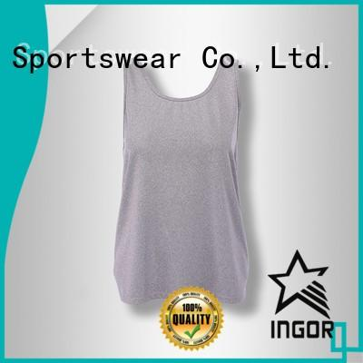 women's workout tank tops cross running tank top INGOR Brand