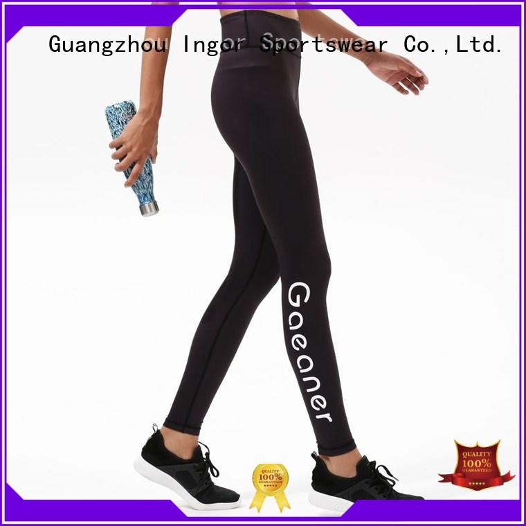 ladies cotton leggings waist for yoga INGOR