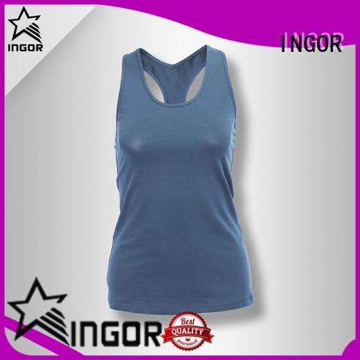 INGOR custom women's athletic tanks womens for yoga