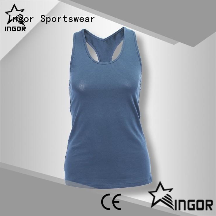 INGOR top yoga tops with racerback design for sport