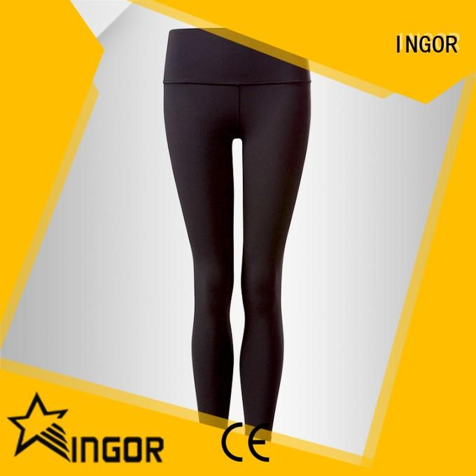 durability ladies cropped leggings  with four needles six threads for girls