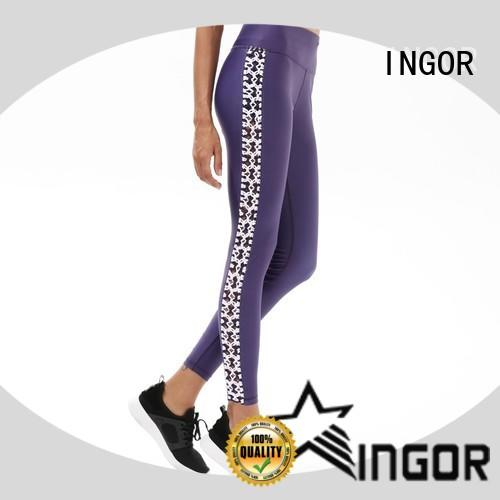 INGOR fitness patterned yoga leggings with high quality for yoga
