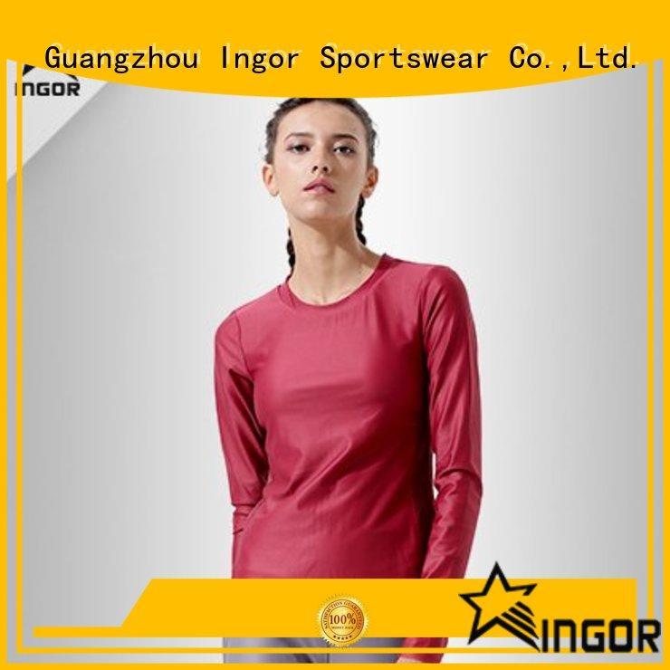 INGOR Brand design sleeve sports Sports sweatshirts