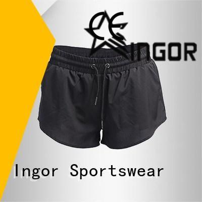 INGOR white yoga shorts on sale for girls