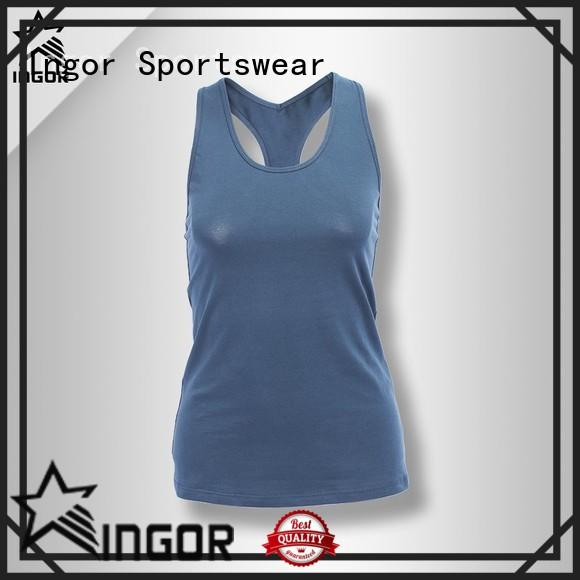 INGOR racerback crop tank with high quality at the gym