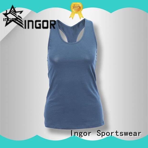 soft yoga tops fashion with racerback design for ladies