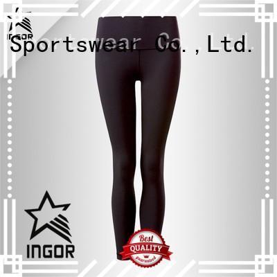 blue black yoga pants INGOR Brand