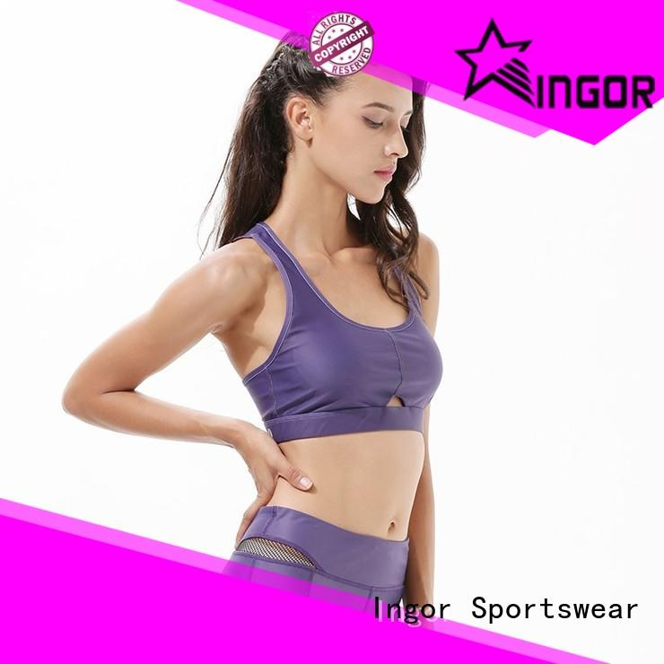 INGOR quality pink red sports bra with high quality for sport