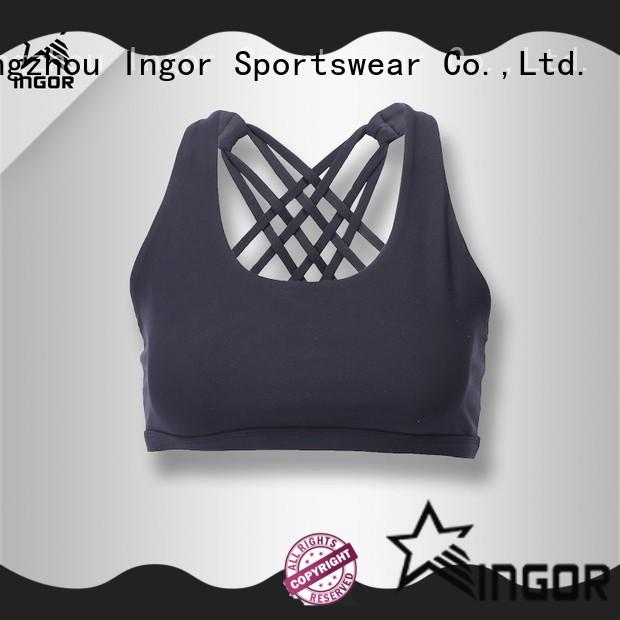 INGOR online white high impact sports bra to enhance the capacity of sports for ladies