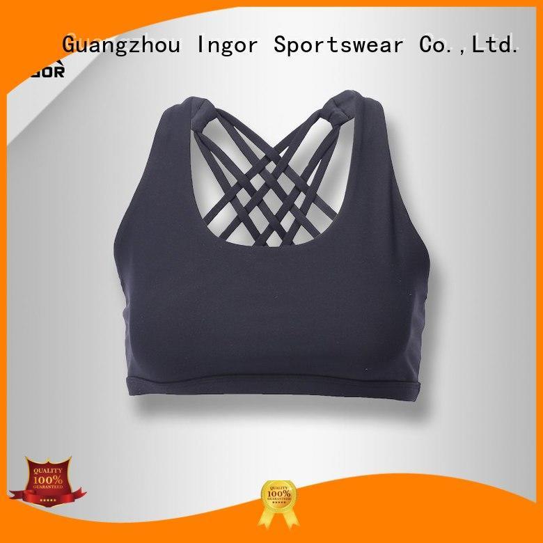 back strappy fashion sports bra INGOR Brand company
