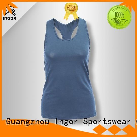 INGOR Brand workout spandex women's workout tank tops sports supplier