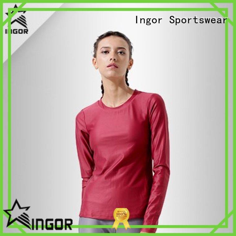INGOR anti-Static ladies sweatshirts with drawstring design at the gym