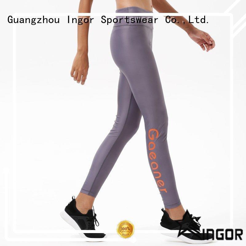 INGOR waist leggings with four needles six threads for ladies