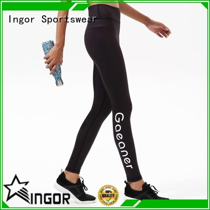 INGOR convenient yoga pants with four needles six threads for girls