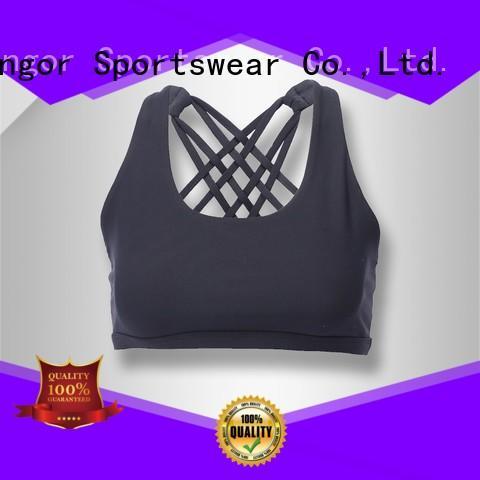 INGOR Brand support front sports bra burgandy factory